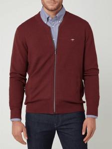 Czerwony sweter Fynch Hatton z bawełny w stylu casual ze stójką