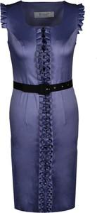 Sukienka Fokus z krótkim rękawem z okrągłym dekoltem ołówkowa