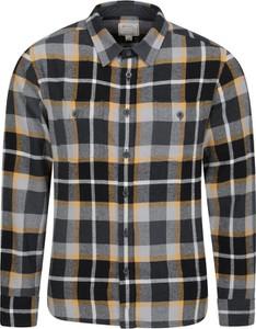 Czarna koszula Mountain Warehouse z tkaniny z klasycznym kołnierzykiem