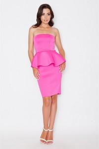 Różowa sukienka Katrus bez rękawów midi baskinka