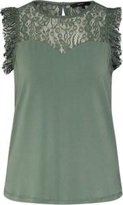 Zielona bluzka Vero Moda bez rękawów