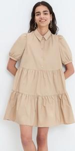 Sukienka Mohito z kołnierzykiem w stylu casual