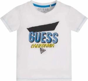 Koszulka dziecięca Guess dla chłopców z bawełny z krótkim rękawem
