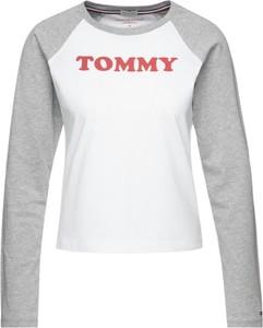 Bluzka Tommy Hilfiger z krótkim rękawem z okrągłym dekoltem