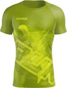 T-shirt Vision Wear Sport z tkaniny z krótkim rękawem