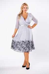 Sukienka Moda Dla Ciebie midi z długim rękawem