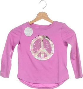 Różowa bluzka dziecięca Gap z bawełny