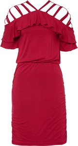 Czerwona sukienka bonprix hiszpanka mini