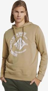 Brązowa bluza Tom Tailor w młodzieżowym stylu z bawełny