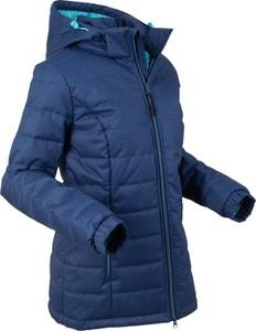Granatowa kurtka bonprix bpc bonprix collection długa w stylu casual