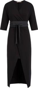 Czarna sukienka Pennyblack midi z krótkim rękawem