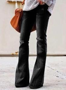 Czarne jeansy Cikelly z jeansu w stylu casual