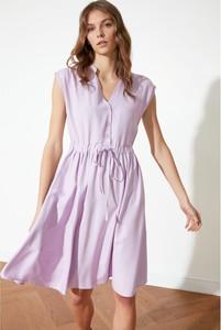 Fioletowa sukienka Trendyol na ramiączkach