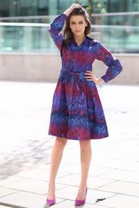 Sukienka Taravio z tkaniny mini szmizjerka
