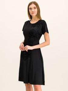 Sukienka Desigual rozkloszowana z krótkim rękawem z okrągłym dekoltem