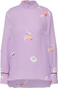 Fioletowa bluzka Second Female z długim rękawem