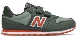 Zielone buty sportowe dziecięce New Balance na rzepy