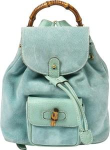 Plecak Gucci z zamszu