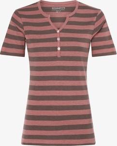 Różowy t-shirt brookshire z krótkim rękawem w stylu casual