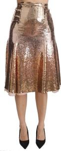 Złota spódnica Dolce & Gabbana