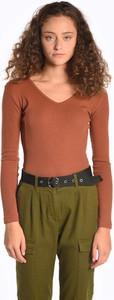 Czerwona bluzka Gate z bawełny w stylu casual