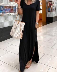 Sukienka Kendallme w stylu boho oversize z dekoltem w kształcie litery v