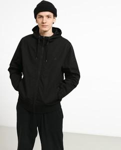 Czarna kurtka Element z bawełny w stylu casual