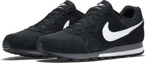 Czarne buty sportowe Nike sznurowane z zamszu