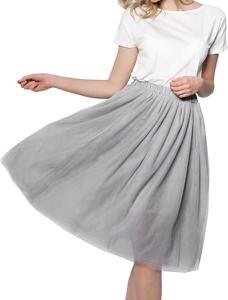 Spódnica Snm midi w stylu casual z tiulu