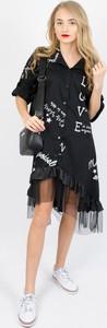 Sukienka Olika mini w stylu casual z tiulu
