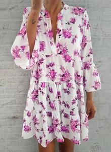 Sukienka Sandbella w stylu boho z długim rękawem mini