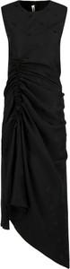Sukienka McQ Alexander McQueen midi z okrągłym dekoltem