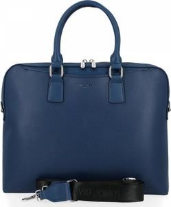 Niebieska torebka David Jones ze skóry ekologicznej
