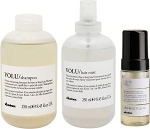 Davines Volu and Liquid Spell | Zestaw zwiększający objętość: szampon 250ml + odżywka w sprayu 250ml + pogrubiający fluid 125ml