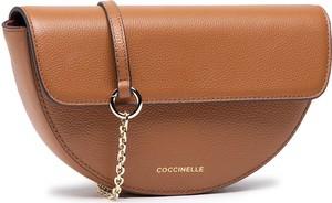 Brązowa torebka Coccinelle na ramię ze skóry