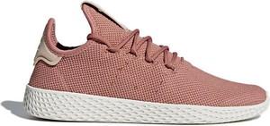 Różowe buty sportowe Adidas Originals z płaską podeszwą