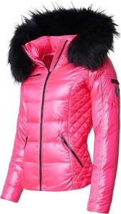 Różowa kurtka ROCKANDBLUE krótka w stylu casual