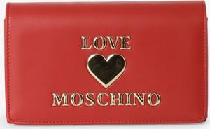 Czerwona torebka Love Moschino ze skóry na ramię