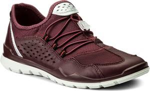 Buty sportowe ecco bez wzorów ze skóry ekologicznej