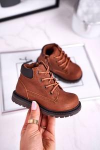 Buty dziecięce zimowe Apawwa dla chłopców sznurowane