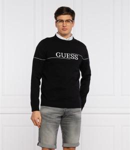 Czarny sweter Guess z okrągłym dekoltem