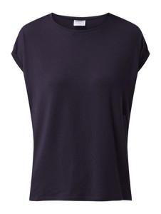 Granatowa bluzka Vero Moda bez rękawów z okrągłym dekoltem w stylu casual