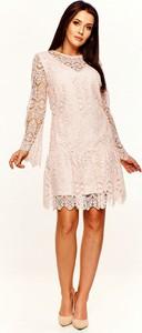 Sukienka Only Exclusive mini z długim rękawem z okrągłym dekoltem