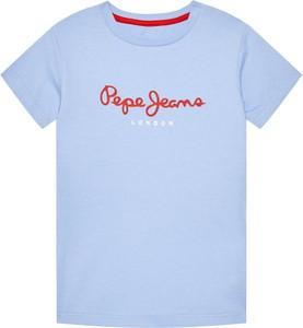 Koszulka dziecięca Pepe Jeans z jeansu z krótkim rękawem dla chłopców
