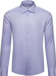 Fioletowa koszula Eton z włoskim kołnierzykiem