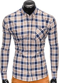 Koszula ombre clothing z długim rękawem w militarnym stylu