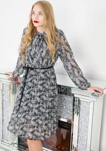 Sukienka Olika mini z długim rękawem