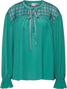 Zielona bluzka Cream ze sznurowanym dekoltem