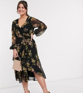 Sukienka Asos z długim rękawem