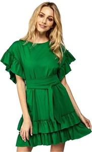 Zielona sukienka fADD z dzianiny